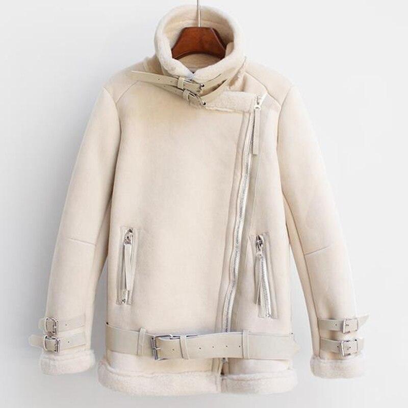 European and American Style Women Winter Fur Coat Woman Brand Clothing Thick Warm Women Woolen Velvet Coat Fur Leather A182