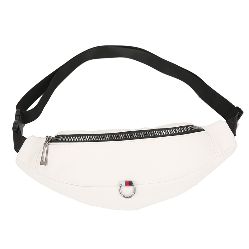 Fashion Black Fanny Pack Banana Waist Bag New Brand Belt Bag Women Waist Pack PU Leather Chest Bag Belly Phone Money Bag