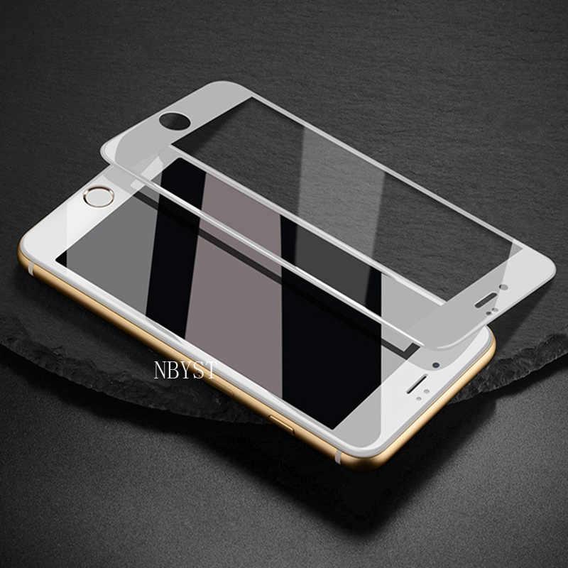 Pełna hartowana obudowa szkło dla iPhone X XS MAX 6 6s 7 8 Plus 5 5S SE 5C ekran osłona zabezpieczająca folia szkło ochronne na iPhone7 8