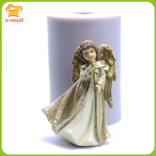 Angel Girl Silicone Mould Candle Soap Cake Long Coat Styling Tools Star Angel недорого