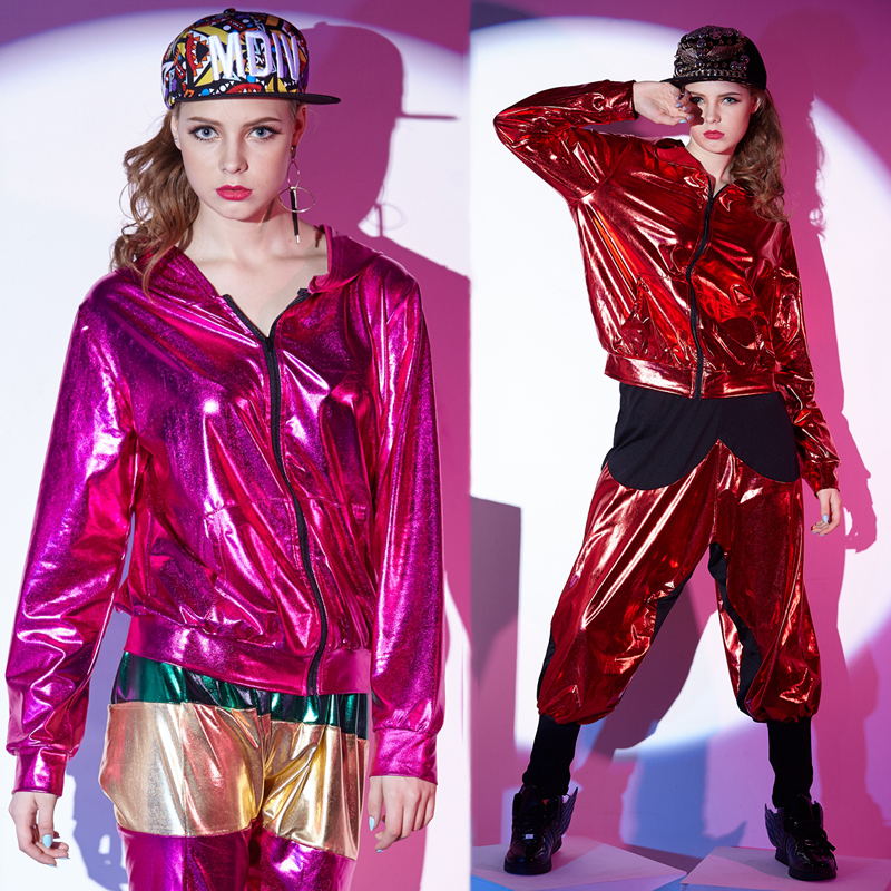 New Hip Hop Costumes Women Street Dance Clothing Adults Jazz Stage Performance Wear Modern Dancing Rave Outfit Ladies DT1767