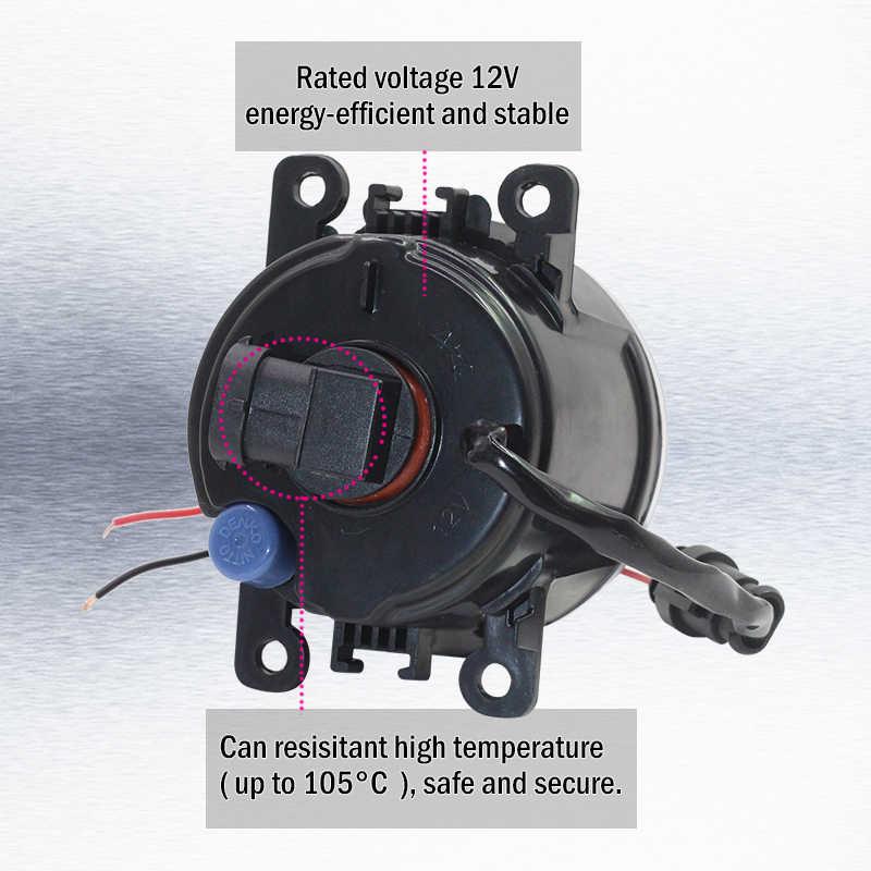 Cawanerl Citroen DS4 2011-2014 araba H11 4000LM LED lamba sis lambası kiti melek göz Daytime koşu işık DRL 12V yüksek parlak