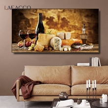 Laeacco Vineyard Bread food Poster Kitchen Canvas Painting Posters And Prints Living Room House Wall Decor Art Home Decoration