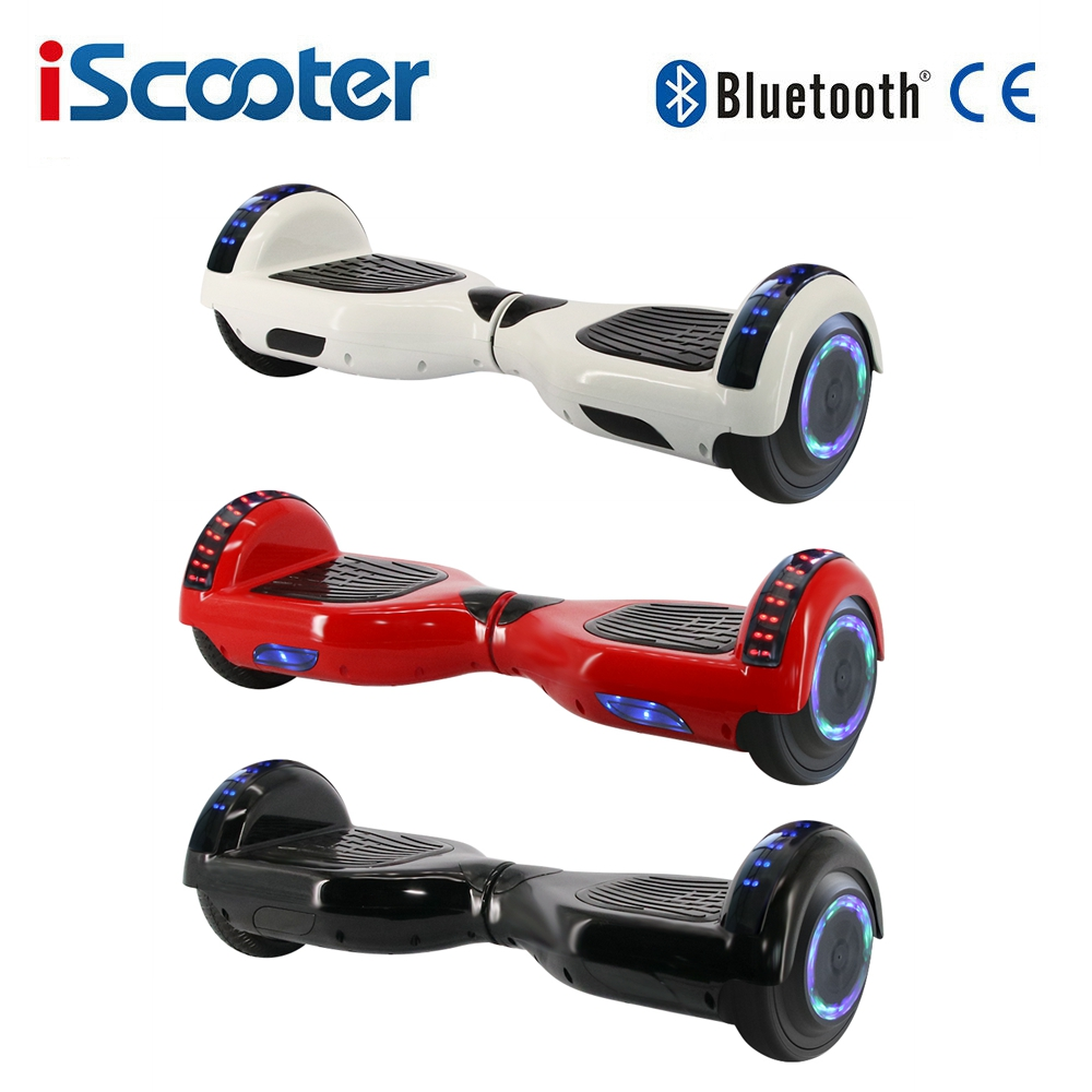 Big Sale IScooter Smart Electric Scooter Bluetooth Hoverboard Gyroscooter 6.5Inch Kids Two Wheels Self Balancing Skateboard
