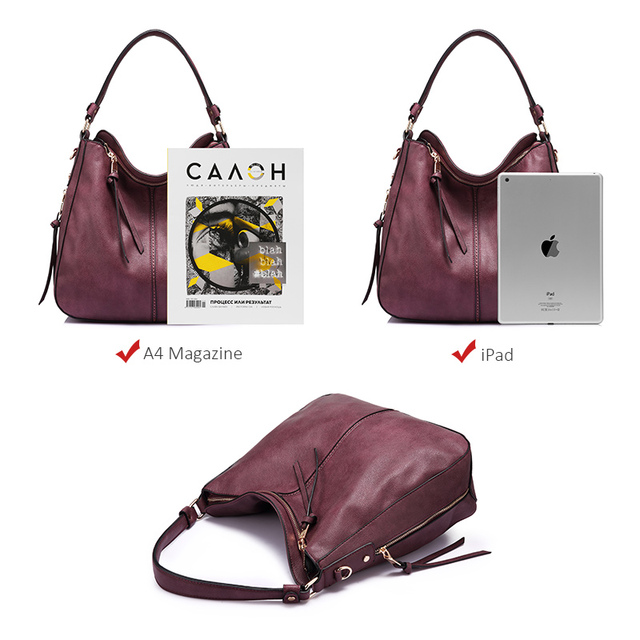 REALER women handbags female Crossbody shoulder bags high quality PU leather messenger bags for ladies big Totes large capacity 5