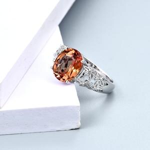 Image 3 - Zultanite cor mudou pedra anel de prata feminino design especial anel de casamento 6 quilates criado diaspore prata anel de noivado