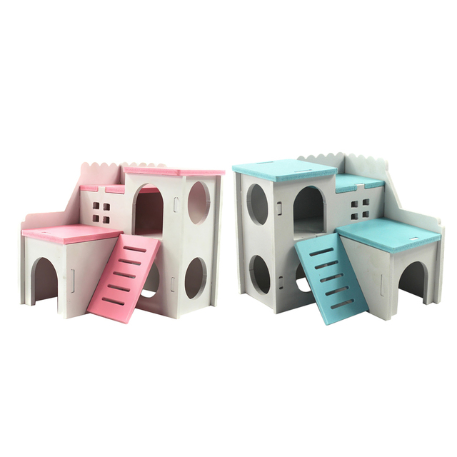 House Bed For Small Animal Pet Hamster Hedgehog Guinea Pig Castle Habitat Cave Toy Pet Nest Squirrel Bed House Cage Accessories
