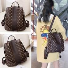 Women PU Leather Backpack…