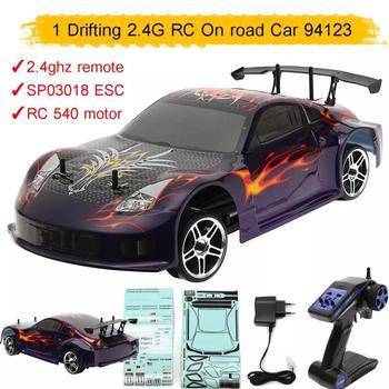 HSP-coche teledirigido 94123 1/10 2,4 Ghz 540, vehículo teledirigido con Motor, pez volador, 1 coche de Fórmula RC eléctrico