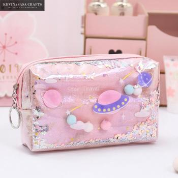 Star Pencil Case Glitter Large Capacity Pencilcase School Pen Makeup Case Supplies Pencil Bag School Box Pencil Pouch Stationery