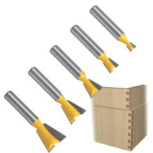 1Pcs 8mm Shank Grade Industrial Rod Dovetail Router Bit Swallow Tail Woodworking Etching Milling Tools For Wood Cutter Hand Tool