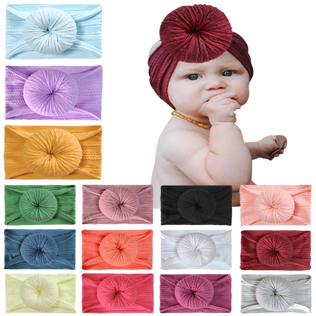 Bebê recém-nascido coronet menina headdress acessórios para o cabelo sólido headbands para crianças arco headwears bandana na cabeça