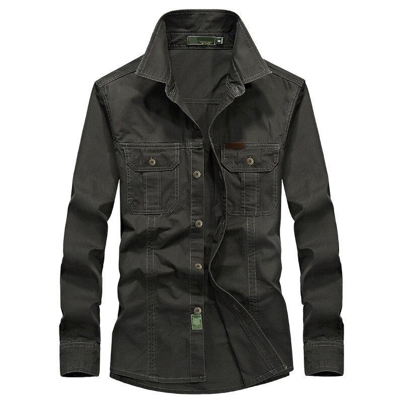 Brand Army Military Shirt Men Breathable Long Sleeve Mens Shirts Cotton Dress Shirt Camisa Masculina Plus Size M-6XL