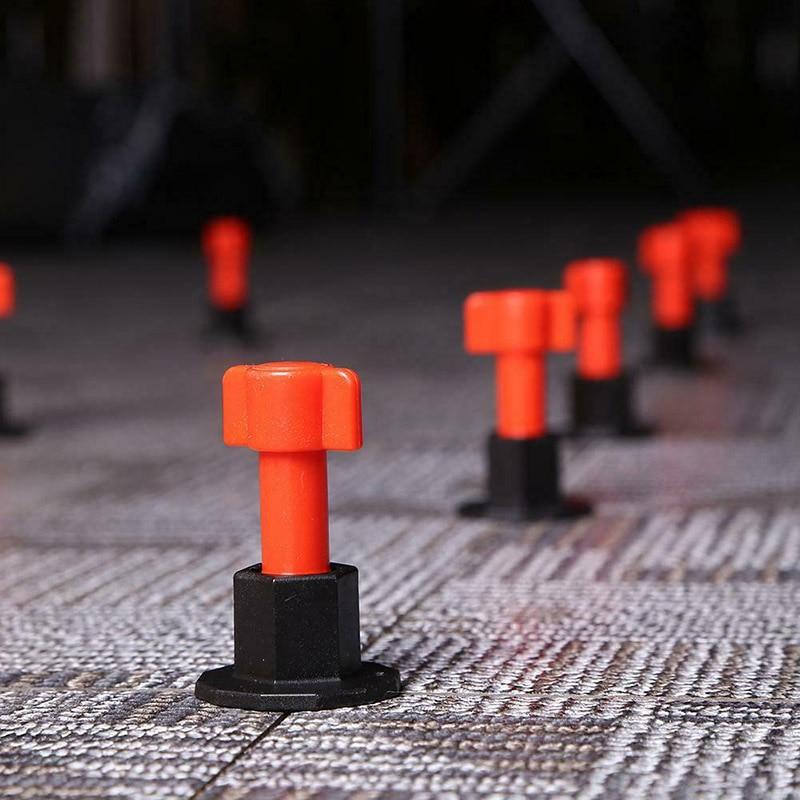 Herramienta de localización de sistema de nivelación de azulejos antideslizante reutilizable para pared de piso de cerámica Dropship 100 uds, herramientas de construcción de piso de cerámica plana, herramientas de construcción, sistema de nivelación de azulejos reutilizables, Kit de sistema de nivelación de azulejos
