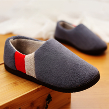 Men Slippers Home Memory foam Winter Short Plush Indoor Slippers Male Comfy Flock Non-slip House Shoes Big size 45 46 47