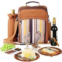 야외 휴대용 캠핑 피크닉 가방 칼 붙이 냉장고 가방 cubiertos 피크닉 2 여행 배낭 쿨러 아이스 가방에 대 한 설정