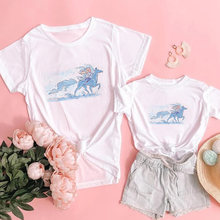Забавная новинка футболка с принтом для мамы ребенка семьи «Холодное