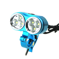 8000 Lumens 6xCREE XM L T6 LED Bike Bicycle Front Light With Aluminum Metal Clips Mount Holder Mountain Bike Light Holiday Gift