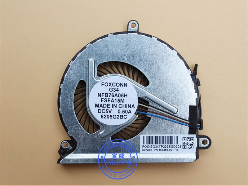 New CPU Cooler Fan For Lenovo V310 V310-14IKB V310-14ISK V310-15ISK G34 E42-80 NFB76A05H FSFA15M 856359-001 image