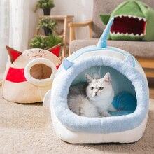 New pet cat litter, cartoon villa, four seasons universal semi-closed cage supplies