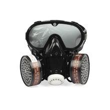 2 ב 1 תעשייתי Dustproof מסכה נגד אבק אנטי רעלן עיני המשקפיים האף פה הגנת הנשמה מסיכת גז מסנן לנשימה