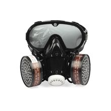 2 in 1 Industrial Dustproof Mask Anti dust Anti toxin Goggle Eyes Nose Mouth Protection Respirator Gas Mask Filter Breathable