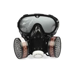 2 in 1 Industrial Dustproof Mask Anti-dust Anti-toxin Goggle Eyes Nose Mouth Protection Respirator Gas Mask Filter Breathable