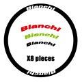 Bianchi наклейки на колеса дорожный велосипед наклейка для обода колеса подходит для 30/40/50/60 мм 700C колеса тормоза дорожный велосипед Наклейка Б...
