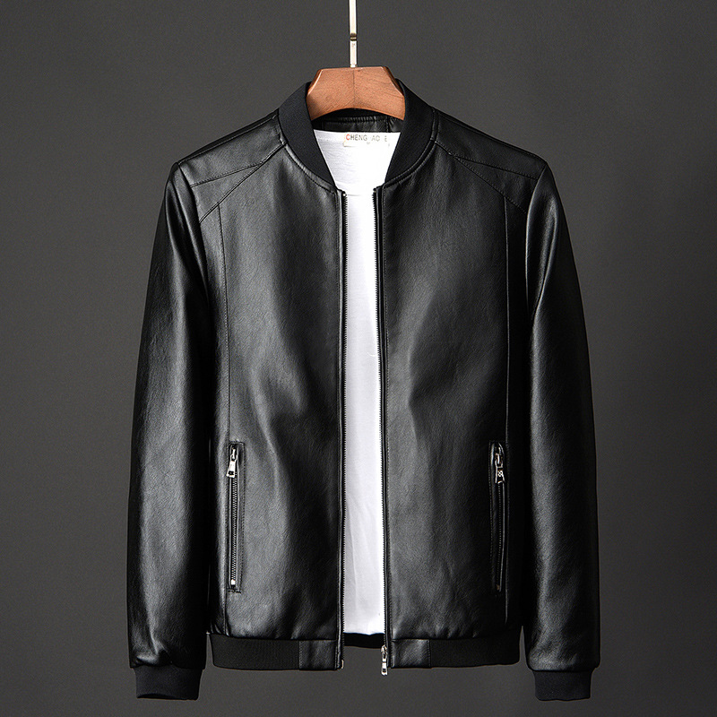 Leather Jacket Bomber Motorcycle Jacket Men Biker PU Baseball Jacket Plus Size 7XL 2020 Fashion Causal Jaqueta Masculino J410