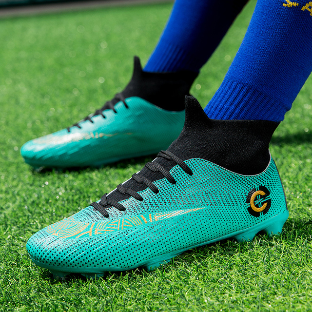 Men Large Size FG/TF Soccer Shoes Football Cleats Soccer Ankle Boots Teenager Training Sneakers Kids Indoor Sports Shoes Unisex 6