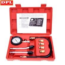 Alta qualidade 9 pçs a gasolina gás motor cilindro compressor medidor de teste pressão compressão tester
