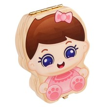 Baby Tooth Box Kids Organizer Milk Teeth Wooden Storage Baby Teeth Box For Boy Girl Save Teeth Umbilical Cord Lanugo,Pink(China)