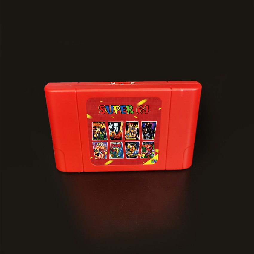 New Super 64 Retro Game Card 340 in 1 Game Cartridge for N64 Video Game Console(China)