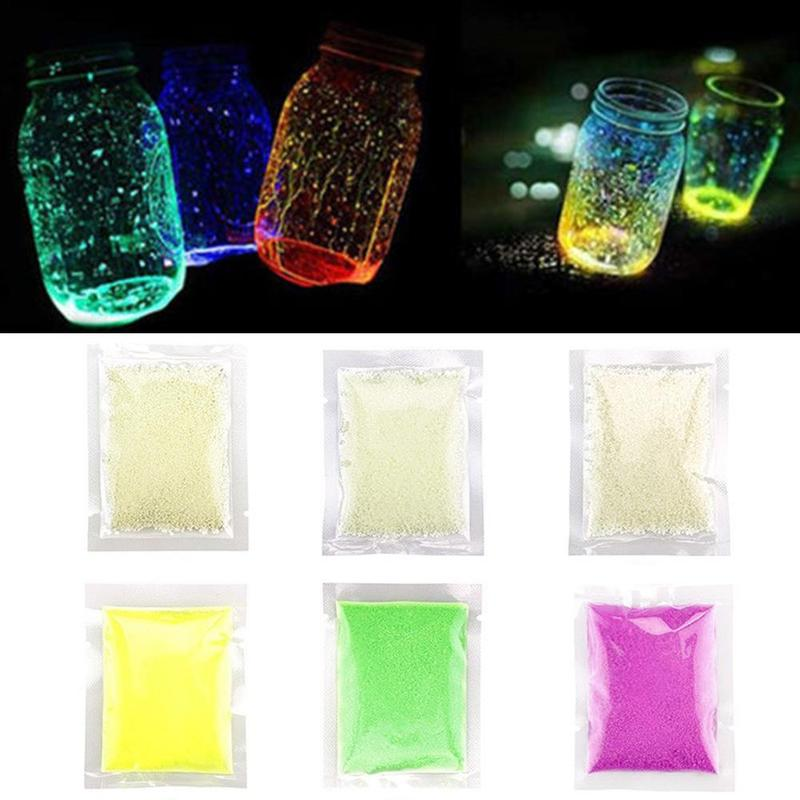 1 Bag 10g Luminous Sand Toys DIY Glow Pigment Colorful Glowing In The Dark Sand Fluorescent Sand Party Decoration Random Color