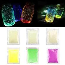 1 beutel 10g Leucht Sand Spielzeug DIY Glow Pigment Bunte Glowing In The Dark Sand Fluoreszierende Sand Party Dekoration zufällige Farbe
