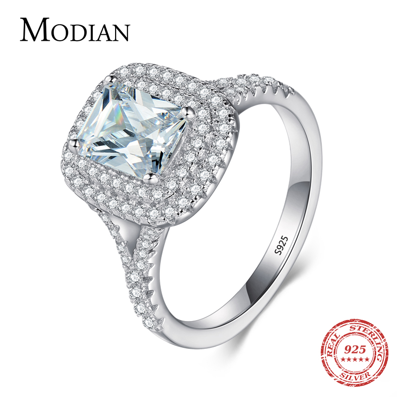 2016 Top quality R&J Brand Bridal 100% Solid 925 Sterling Silver Ring Cake Engagement Wedding Fine rings Jewelry For Women