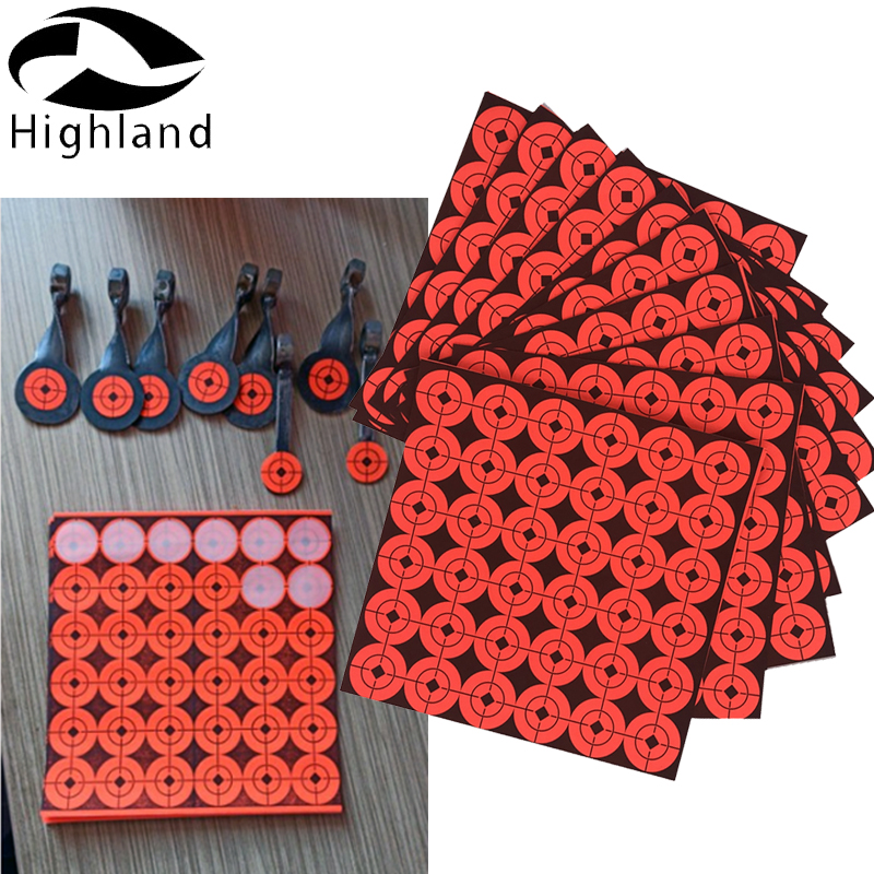 20 sheets (720PCS) Archery Adhesive Paper Target Stickers Paper for Hunting Shooting