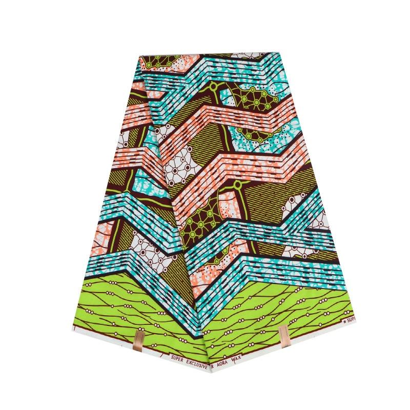 2019 Veritable Guarantee Real Dutch Wax African Fabric Colourful Print Fabric African Ankara Real Dutch Wax 6Yard