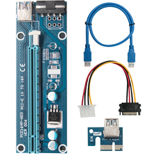 Pcie-Adapter Riser-Card Gpu Miner Mining PCI-E Express 1x-To-16x-Extender VER006S Cable Pci