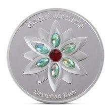 Ограниченным тиражом бриллиантами Вечного мгновения поднялся памятная монета признание в любви, предложить брак подарок монеты Мемориал