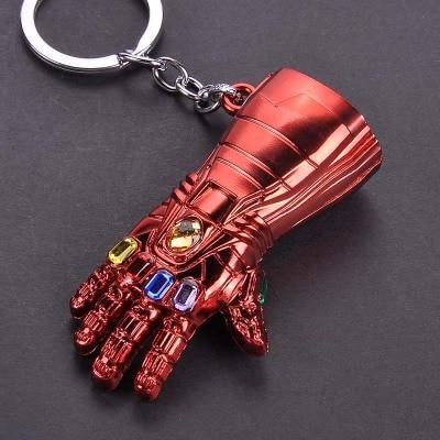Металлический брелок Marvel, Мстители, Капитан Америка, щит, Человек-паук, Железный человек, маска, брелок, игрушки, Халк, Бэтмен, брелок, подарок, игрушки - Color: Watermelon red