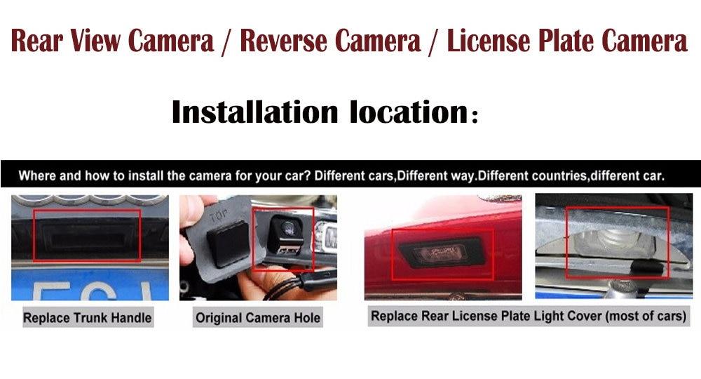相机各位置安装