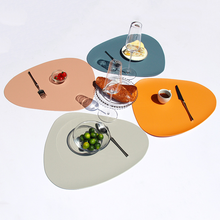 2 4 6 8PCS Place Mat Tableware Pad Placemat Table Mat Heat Insulation PU Leather Placemats Bowl Coaster Kitchen Non-Slip