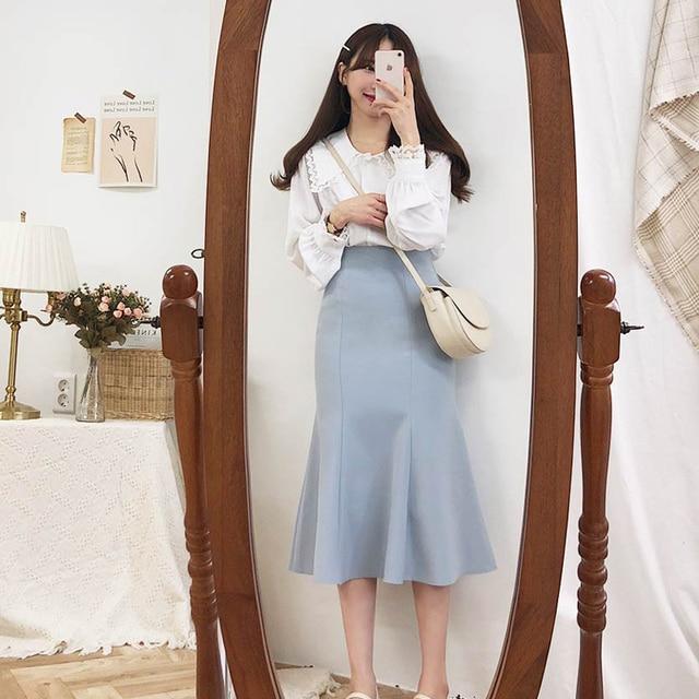 Фото новое поступление 2020 блузка для ранней осени рубашка корейские