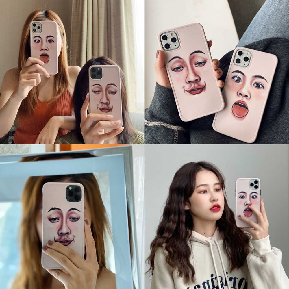 Soft IMD Case For iPhone 11 Pro Max 2019 Expression Couple Cover Case For iPhone 11 Pro X XR XS MAX 10 Funny Pattern Coque Capa