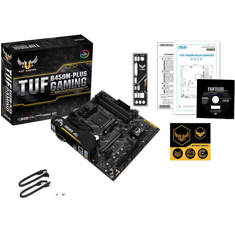 New <font><b>ASUS</b></font> TUF <font><b>B450M</b></font>-PLUS <font><b>GAMING</b></font> desktop computer game board Desktop Mainboard Socket AM4 DDR4 64G Dual Channel Motherboard image