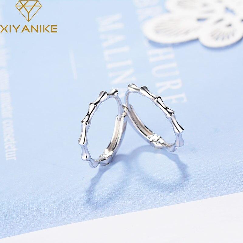 XIYANIKE Prevent Allergy 925 Sterling Silver Creative Slub Stud Earrings for Women Couple Fashion Simple Wedding Jewelry Gifts
