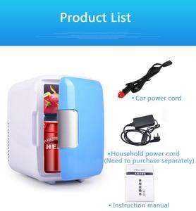 Image 4 - Мини Автомобильный холодильник с морозильной камерой двойного назначения 4L для домашнего использования в автомобиле, холодильники, Ультра тихий низкий уровень шума, охлаждающий холодильник