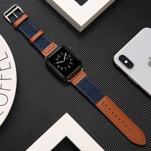 Fabric&Genuine Leather strap f