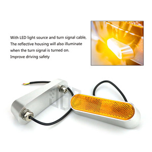 Image 4 - Motorcycle LED Side Yellow Turn Signal Lights CNC Indicator Left Right Lamp Scooter For VESPA GTS 300 SPRINT 150 PRIMAVERA 150
